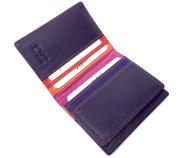 Golunski Multi Coloured Leather Credit Card Oyster Rail Travel Pass Holder.
