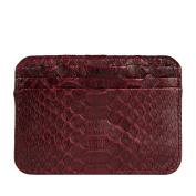 La Portegna Humphrey Card Holder Python Burgundy