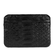 La Portegna Humphrey Card Holder Python Black