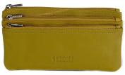 GOLUNSKI Soft Leather 3 Section Zipped Coin Purse 6 COLOURS - 0330