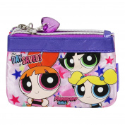 Powerpuff Girls Big Woman Wallet Card ID Photos Holder Pochette with Two zippers