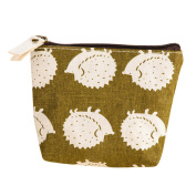 SZTARA Retro Mini Coin Case Creative Change Purse Lovely Canvas Zipped Wallet Handbag Key Card Holder Pouch Clutches