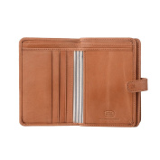 Antica Toscana Ladies Wallet Purse Multi compartment in Real Italian Leather with Zipper Coin Pocket & Card slots Honey