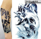 Body Art Temporary Removable Tattoo Stickers Freak Waves Sticker Tattoo - FashionLife