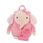 Metoo Baby Anti-lost Toddler Safety Harnesses Cartoon Pink Elephant Baby Leashes Bag Backpack