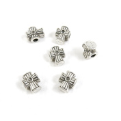 Price per Lot 10 PCS Jewellery Making Charms Antique Silver Tone Colour Jewellery Charme Findingss Bulk Wholesale Suppliers Arts Crafts K8KY8 Latin Cross Loose Beads