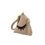 MENKAI Piramide purse shape purse design, zipper with outer keychain.