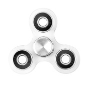 Anti-Anxiety Hand Spinner, EDC Fidget Spinners,Tri-Spinner Toy Relieves ADHD, Anxiety, and More Made by Durable Material (Cristal Black) - VENAS