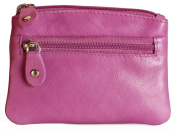 Brunhide Genuine 100% Soft Leather Coin Purse With Key Ring # 211-300 - Berry