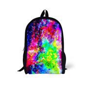 ThiKin Sky Print Stylish Felt Polyester Black Double zipped Casual Daypacks, Laptop Backpack, Bookbags, Casual Bag, School Backpacks -- for Students, College, Travelling, Weekend Trip, Hiking