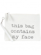 Scarlettsbags Wristlet Canvas Makeup Bag White