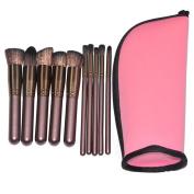 Unicorn Makeup Brushes Set With Bag Cosmetics For Make Up Foundation Powder Blush Eyebrows Contour Highlight Brush Tool kit For Eyeshadow Eyes and Face