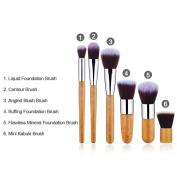 Make up Brushes ,11 Pcs Professional Foundation Makeup brushes Eyeshadow Makeup Brush Set Blusher Concealer Powder Kabuki Bamboo Handle Face Brushes Cosmetic Brush Kit With Case