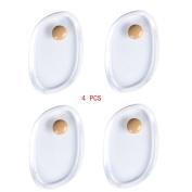 4 PCS Silicone Makeup Sponge Beauty Blender Set Gel Puff For Liquid Foundation BB Cream