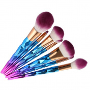 Aooher New 7pcs Colour Makeup Brush Set Super Soft Cream Contour Powder Concealer Foundation Eyeliner Cosmetics Tool