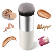 Dealzip Inc Professional Chubby Foundation Brush Flat Face Cream Makeup Brushes Cosmetic Brush Travel Set