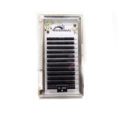 Individual Eyelash Extension Black Ellipse Flat Eyelash Extension 0.15mm thickness D curl 8MM to 14MM Mix 1Tray