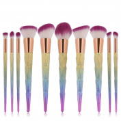 ExGizmo ProMakeup Eyebrow Foundation Power Blush Concealer Eyeshadow Brushes Tools