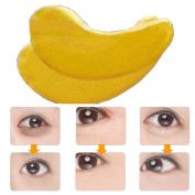 Kinghard 10 Pairs Wholesale New Crystal Gold Powder Gel Collagen Eye Mask Masks Sheet