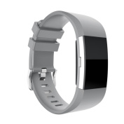 Voberry New Fashion Sports Silicone Bracelet Strap Band For Fitbit Charge 2