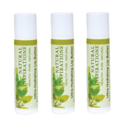 Natural Inspirations Ultra Hydrating SPF 30 Lip Butter 3 Piece Set - Mint