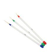 CAETLE® Beauty Flawless Makeup Blender Comestic Sponge PuffSet of 3 Sable NAIL ART Brushes Pen, Detailer Liner and Striper