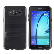 Galaxy On5 Case,AutumnFall Hybrid Dual Layer Armour Defender Protective Case Cover with Kickstand for Samsung Galaxy On5 G550