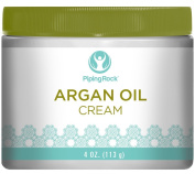 Piping Rock Argan Oil Cream 120ml (113 g) Jar Beauty Skin Face Care Eye Anti-Ageing