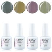 Qimisi Soak Off Gel Polish Lacquer UV LED Nail Art Manicure Kit 4 Colours Set LM-C180 + Free Gift