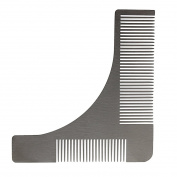 Andux Land Men's Beard Comb Stainless Steel Beard Styling Shaping Template Silver BXGSZ-01