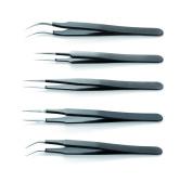 ESD Epoxy Coated Tweezers Kit Of 4