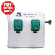 Top Performance Tp256 Disinfectant Dual Dispenser Wht 41cm . x 33cm . x 19cm .
