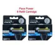 Dorco Pace Power Blade , 7 Blade Razor Shaver System, 8 Refill Cartridges