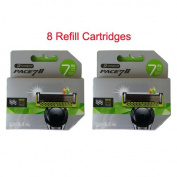 Dorco Pace 7 II Blade , 7 Blade Razor Shaver System 8 Refill Cartridges