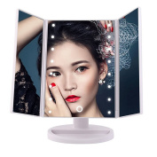 Magnifying Vanity Mirror,Maysky 1X/2X/3 Touch Screen Led Makeup Mirror Tabletop Adjustable Lighted Cosmetic Mirrors