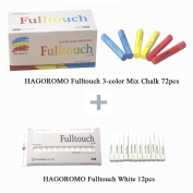 Hagoromo Fulltouch 3-colour Mix Chalk 72pcs & Hagoromo Fulltouch White Chalk 12pcs