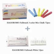 Hagoromo Fulltouch 3-colour Mix Chalk 72pcs & Hagoromo Fulltouch White Chalk 12pcs