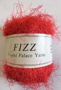 Crystal Palace Fizz #7308 Candy Apple Red Eyelash Yarn
