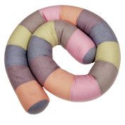 iOBaby Bumper Snake, 200cm Crib Bumper, Junior Bed Pillow, Your Child's Multi-Purpose Friend and Protector.