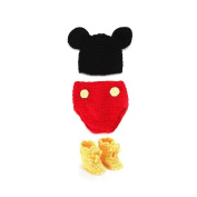 NUOLUX Newborn Baby Photography Props Boy Girl Crochet Costume Outfits Hat Mouse Set