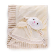 Blankie & Rattle Set (cream)