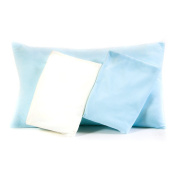 2 Blue/1 White Snuggle Toddler Pillowcases, Super Soft Ultra Plush, Size 18x13, Envelope Style Closure, 3 Pack