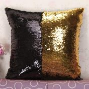 Fullkang DIY Two Tone Glitter Sequins Throw Pillows Decorative Cushion Covers
