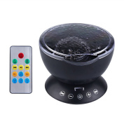 Jian Ya Na Ocean Wave Projector 12 LED 7 Colours Night Light Lamp With Built-in Music Player and Remote Control