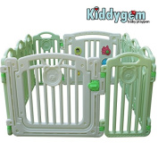 Kiddygem CUDDLE ME Extra Tall baby playpen (10 panels) - Green playard