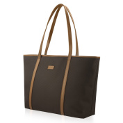CHICECO Nylon Extra Large Tote Bag Shoulder Bag for Women - Coffee