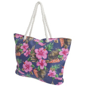 FLOSO® Womens/Ladies Floral Patterned Canvas Summer Handbag