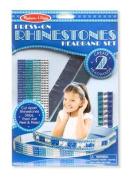 Press-On Rhinestones Headband Set