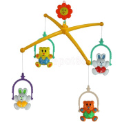 4pc Baby Cot Crib Mobile Bed Bell Toy Holder Arm Bracket & Wind-up Music Box
