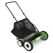 Lawn Mower 50cm Classic Hand Push Reel W/ Grass Catcher 6 Adjustable Height 50cm